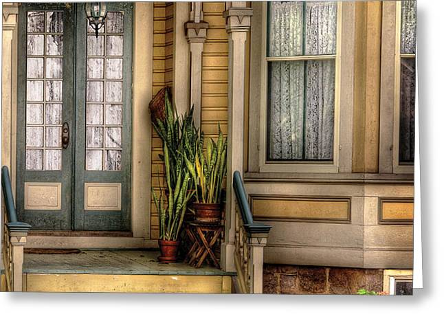 Porch - House 109 Greeting Card by Mike Savad