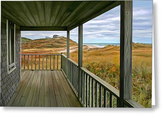 Seabreeze Studio Greeting Cards - Porch View Greeting Card by Sue  Brehant