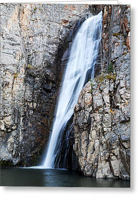 Water Flowing Greeting Cards - Porcupine Falls Greeting Card by Larry Ricker