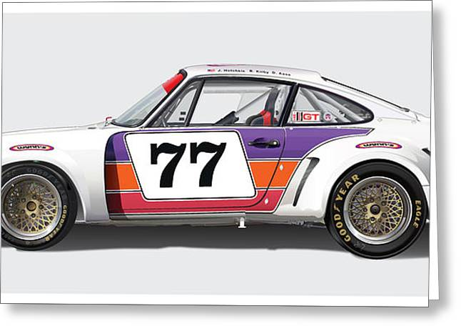 Owner Greeting Cards - Porsche 1977 RSR Greeting Card by Alain Jamar