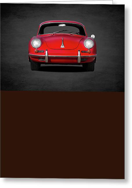 Sport Greeting Cards - Porsche 356 Greeting Card by Mark Rogan