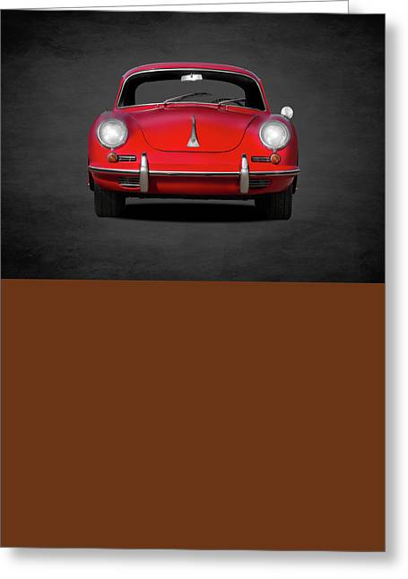 Vintage Cars Greeting Cards - Porsche 356 Greeting Card by Mark Rogan