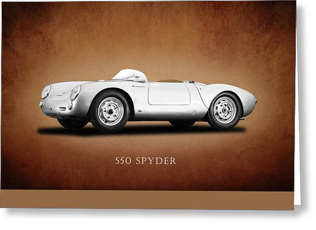 Porsche Greeting Cards - Porsche 550 Greeting Card by Mark Rogan
