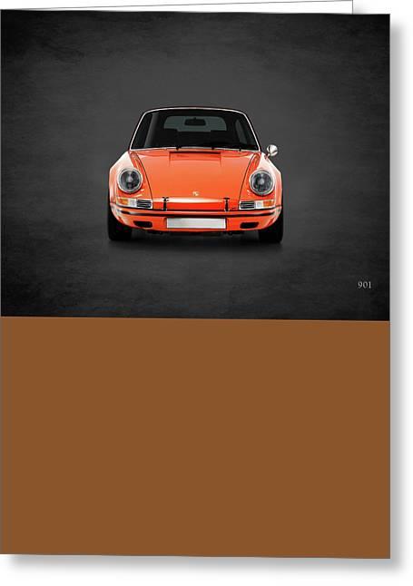 Porsche Car Greeting Cards - Porsche 901 Greeting Card by Mark Rogan