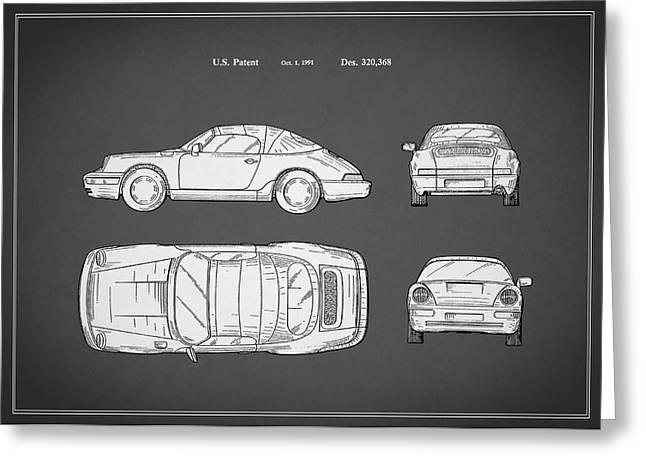 Cabriolet Greeting Cards - Porsche 911 Cabriolet Patent Greeting Card by Mark Rogan