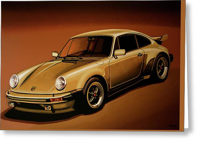 Porsche 911 Turbo 1976 Painting Greeting Card by Paul Meijering