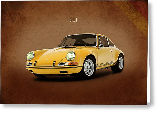 Classic Porsche 911 Greeting Cards - Porsche 911 ST 1970 Greeting Card by Mark Rogan