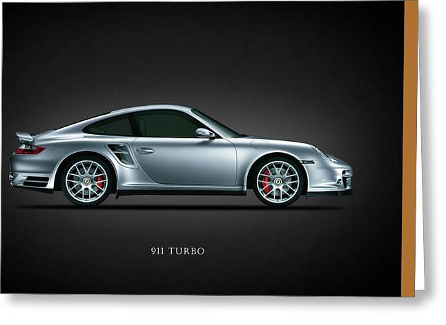 Porsche Greeting Cards - Porsche 911 Turbo Greeting Card by Mark Rogan