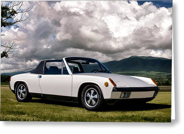 Classic Digital Greeting Cards - Porsche 914 Greeting Card by Douglas Pittman