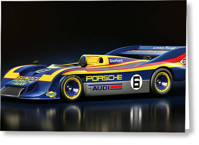 Stylish Car Greeting Cards - Porsche 917/30 Greeting Card by Marc Orphanos