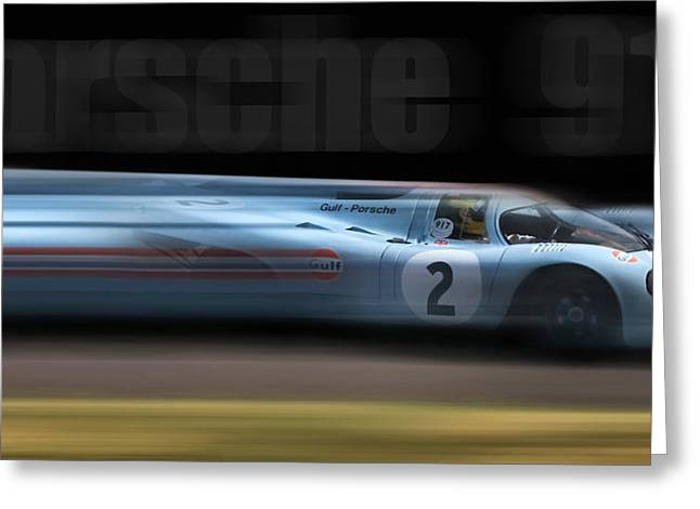 Peter Chilelli Greeting Cards - Porsche 917 Greeting Card by Peter Chilelli