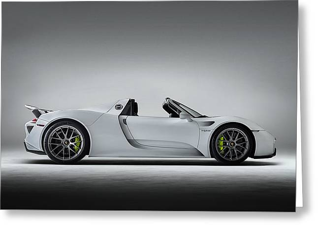 Studio Lighting Greeting Cards - Porsche 918 Spyder Greeting Card by Douglas Pittman