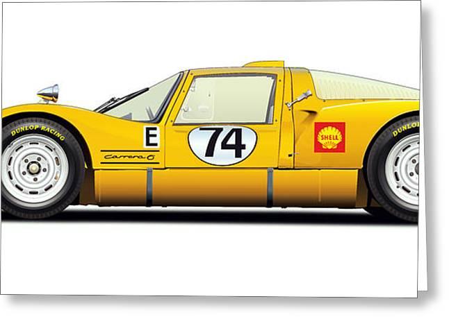 Porsche Carrera 906 Illustration Greeting Card by Alain Jamar