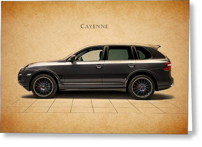 Cayenne Greeting Cards - Porsche Cayenne Greeting Card by Mark Rogan
