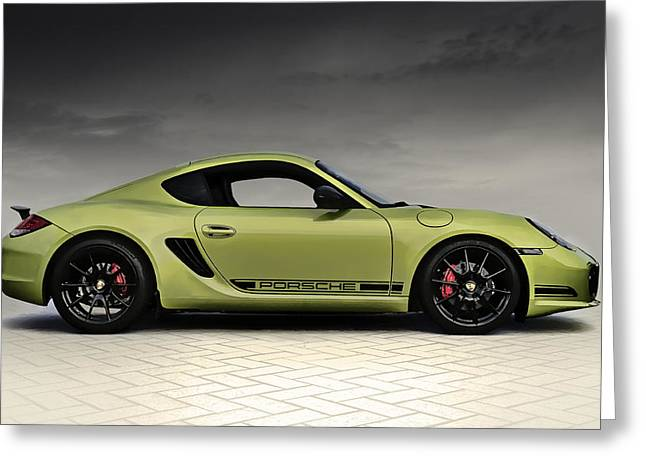 Auto Greeting Cards - Porsche Cayman R Greeting Card by Douglas Pittman
