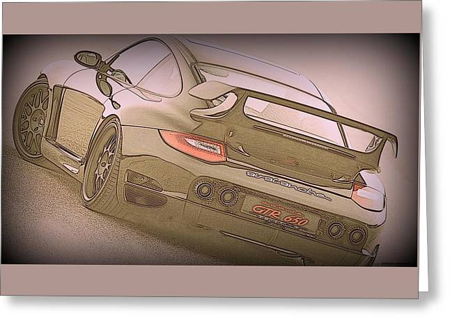 Porsche Gtr 650 Drawning Greeting Card by MAXiMUM PHOTOGRAPHY