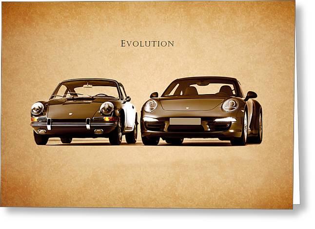 Porsche Greeting Card by Mark Rogan