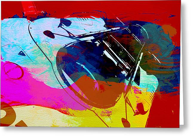 Grill Greeting Cards - Porsche Watercolor Greeting Card by Naxart Studio