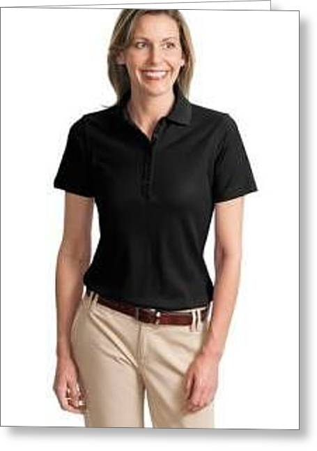 Polo Shirts Greeting Cards - Port Authority Ladies EZCotton Pique Polo Greeting Card by Jerry Martin