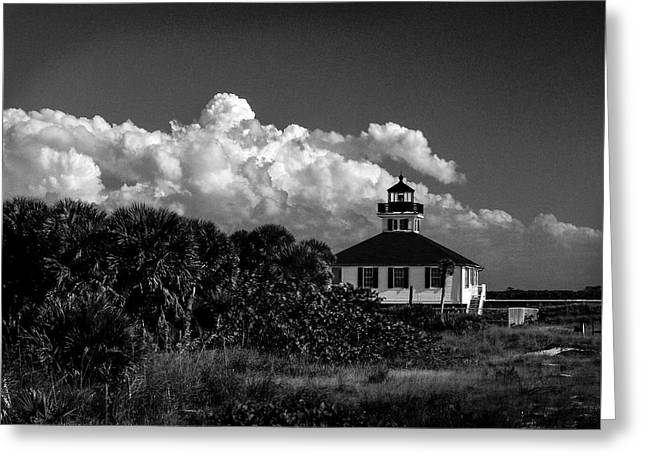 Charlotte Greeting Cards - Port Boca Grande Lighthouse Museum Greeting Card by Gene Camarco