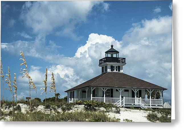 Beach Photos Greeting Cards - Port Boca Grande Lighthouse Greeting Card by Norman Johnson