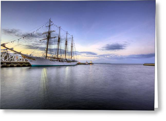 Tall Ship Greeting Cards - Port of Call Pensacola Greeting Card by JC Findley