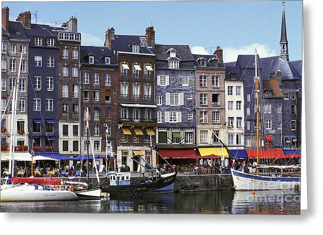 Docked Sailboats Greeting Cards - Port Of Honfleur Greeting Card by Gerard Lacz