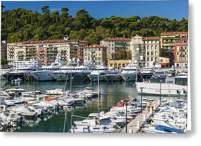Chic Greeting Cards - Port of Nice Greeting Card by Elena Elisseeva