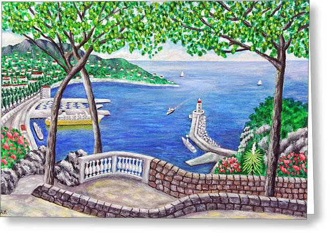 South Of France Greeting Cards - Port Of Nice - France Greeting Card by Ronald Haber