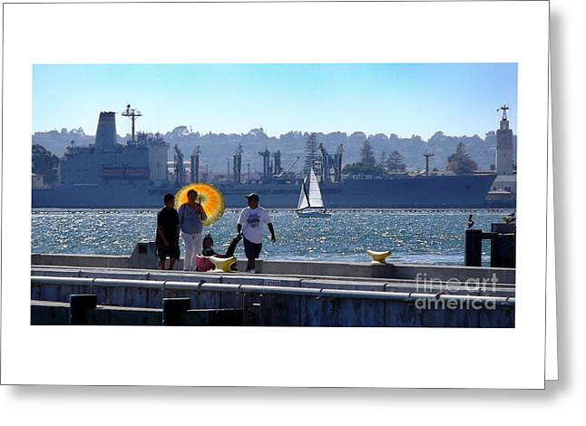 Cellphone Greeting Cards - Port Of San Diego Greeting Card by Alan M Thwaites