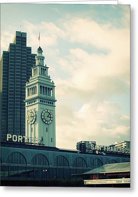 Etsy Greeting Cards - Port of San Francisco Greeting Card by Linda Woods