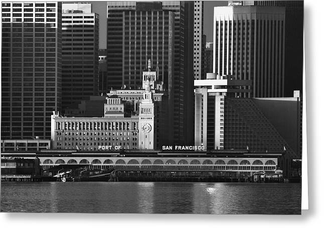 Ferry Building Greeting Cards - Port of San Francisco Greeting Card by Mick Burkey