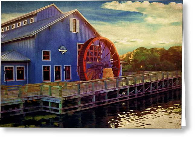 Water Mill Greeting Cards - Port Orleans Riverside Greeting Card by Lourry Legarde