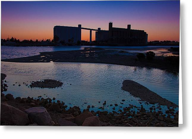 Smelter Greeting Cards - Port Pirie Greeting Card by Tim Nichols