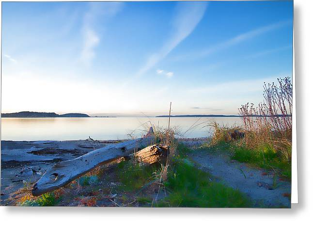 Townsends Inlet Greeting Cards - Port Townsend View Painting Greeting Card by Allan Van Gasbeck