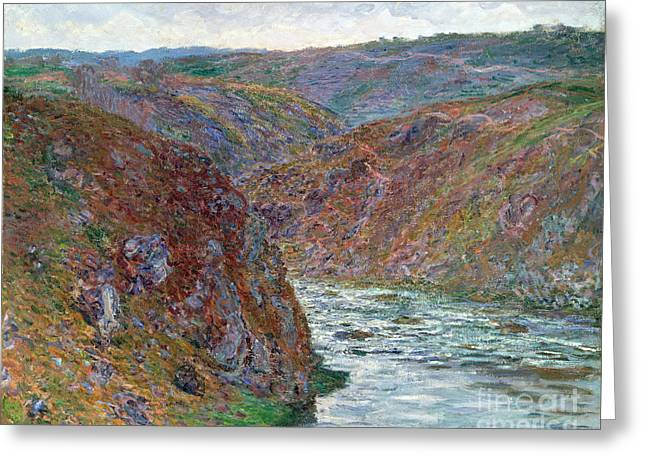 Vintage Painter Greeting Cards - Port-Valley of the Creuse Greeting Card by Claude Monet