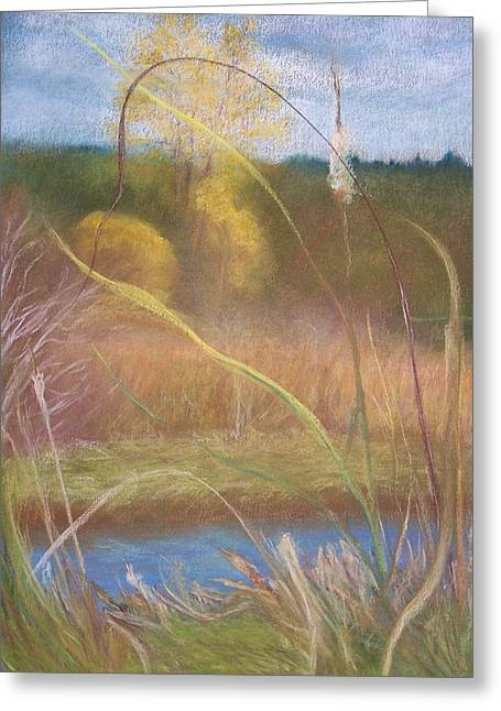 Wetlands Pastels Greeting Cards - Portal Greeting Card by Jackie Bush-Turner