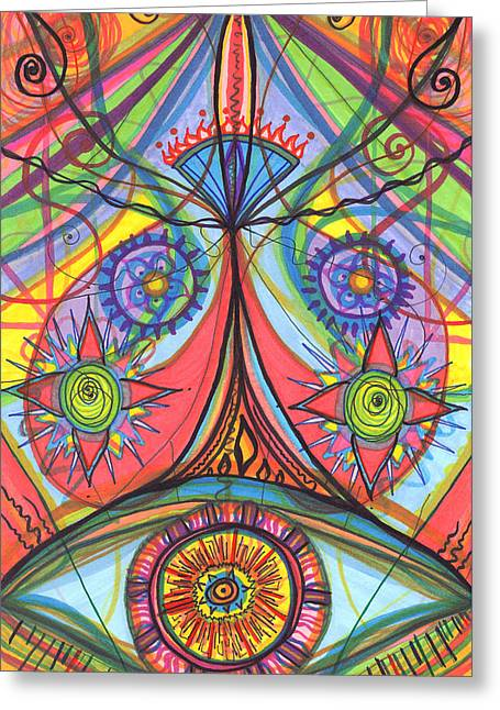 Portal Of Desire Greeting Card by Daina White