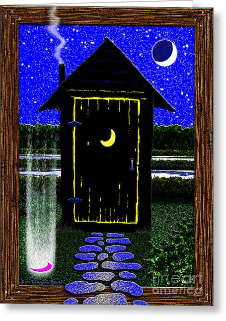 Portal Digital Greeting Cards - Portal Potty Greeting Card by Cristophers Dream Artistry