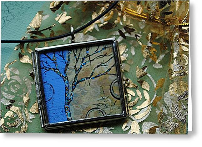 Acrylic Art Jewelry Greeting Cards - Portals of Discovery Greeting Card by Dana Marie
