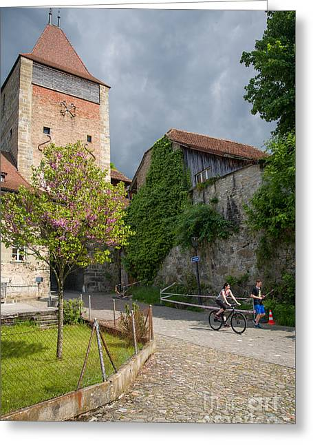 Swiss Photographs Greeting Cards - Porte de Bourguillon Greeting Card by Ning Mosberger-Tang