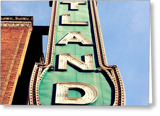 Portland Greeting Card by Cathie Tyler
