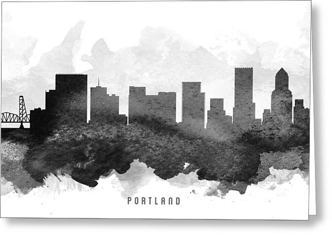 Portland Oregon Greeting Cards - Portland Cityscape 11 Greeting Card by Aged Pixel