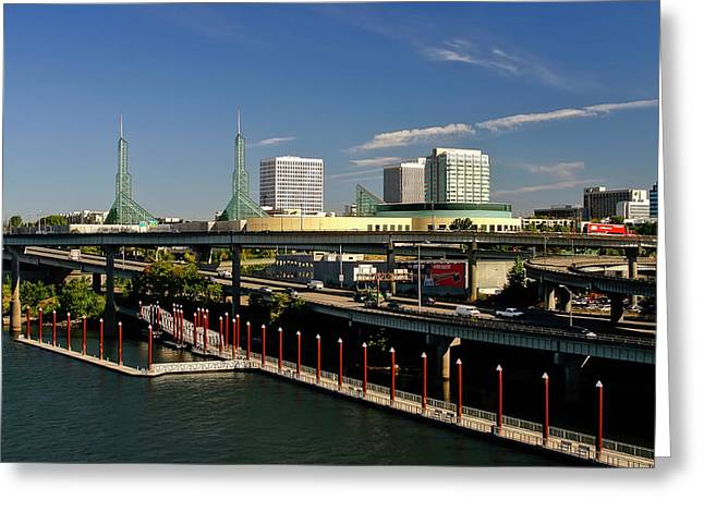 Convention Greeting Cards - Portland East Bank Greeting Card by Albert Seger