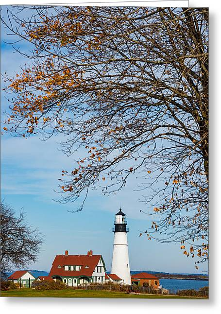 Portland Head Afternoon Greeting Card by Darren White