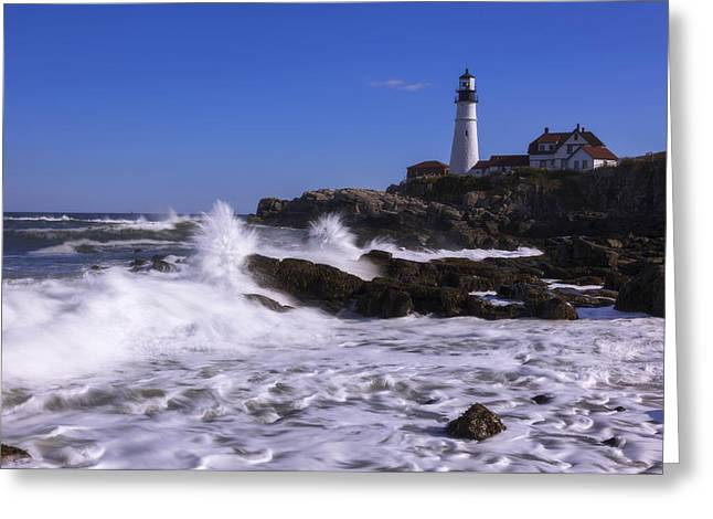 Oceanscape Greeting Cards - Portland Head Light I Greeting Card by Chad Dutson