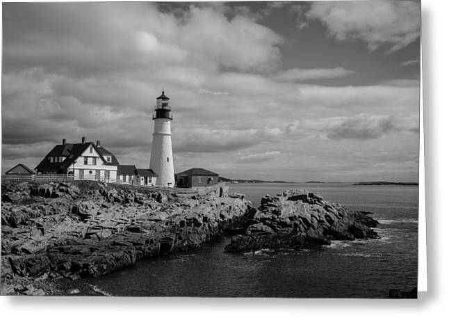 Coastal Maine Greeting Cards - Portland Head Light Greeting Card by Kirkodd Photography Of New England