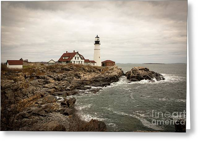 Portland Head Lighthouse Greeting Card by A New Focus Photography