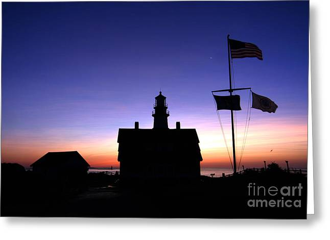 Maine Lighthouses Greeting Cards - Portland Head Lighthouse Greeting Card by Jim Beckwith