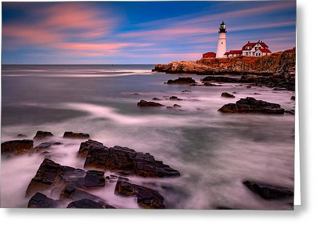 Portland Head Lighthouse Greeting Card by Rick Berk